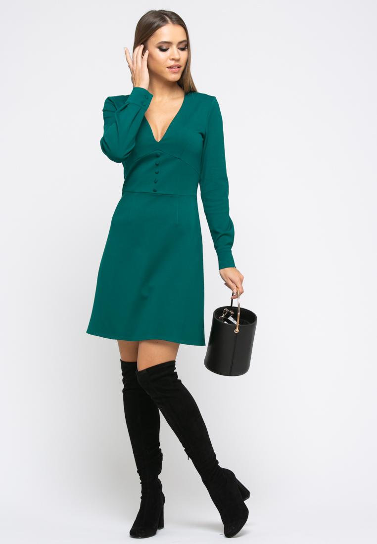 Платье Z245 цвет изумрудный