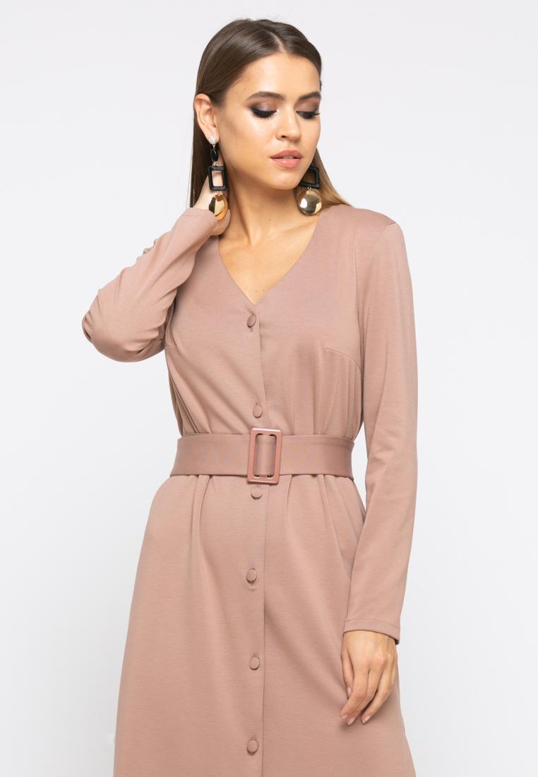 Платье Z246 цвет капучино