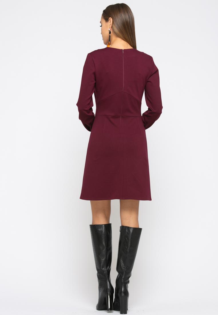 Платье Z245цвет бордовый