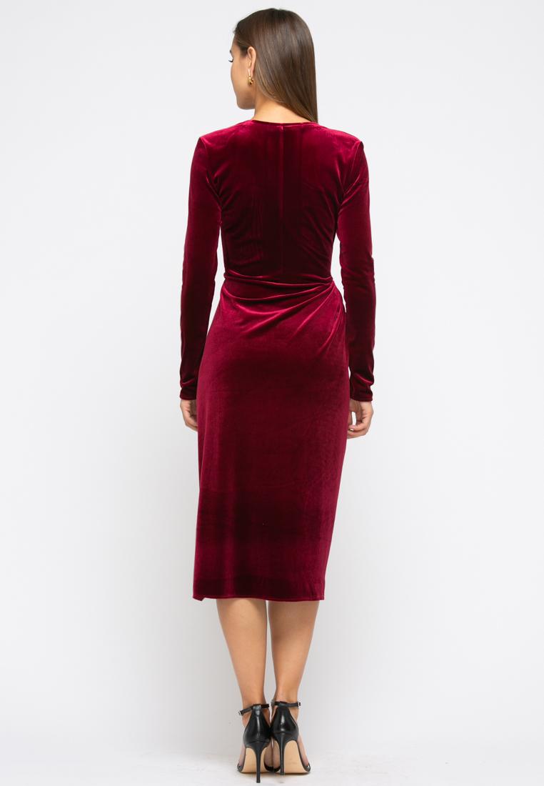 Платье Z257 цвет винный