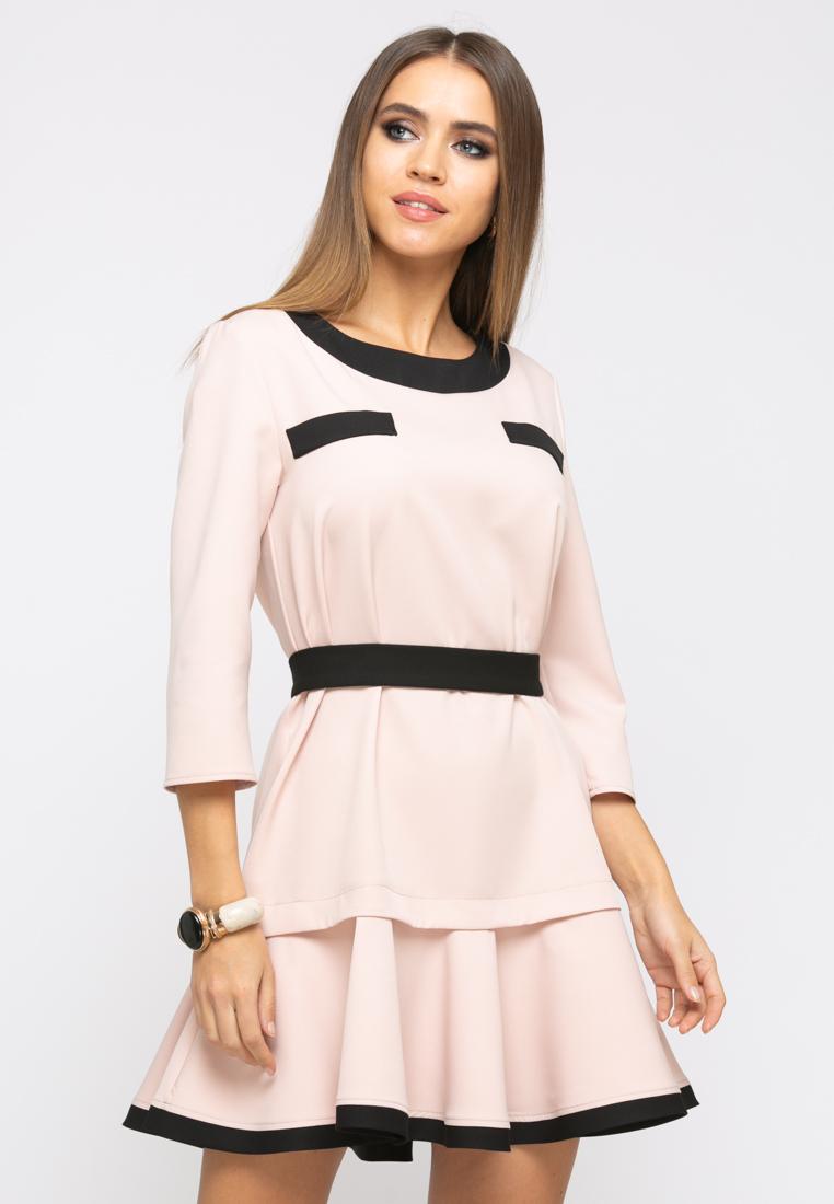 Платье Z256 цвет бежевый