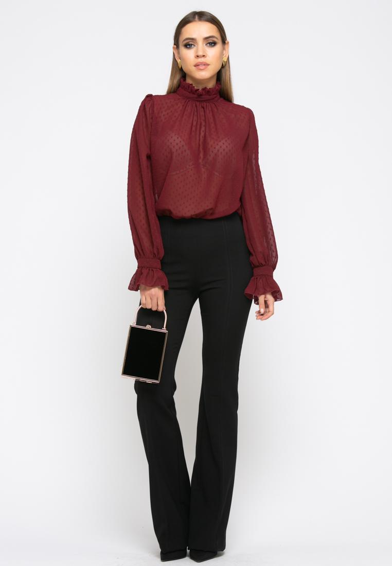Блузка Z261 цвет бордовый