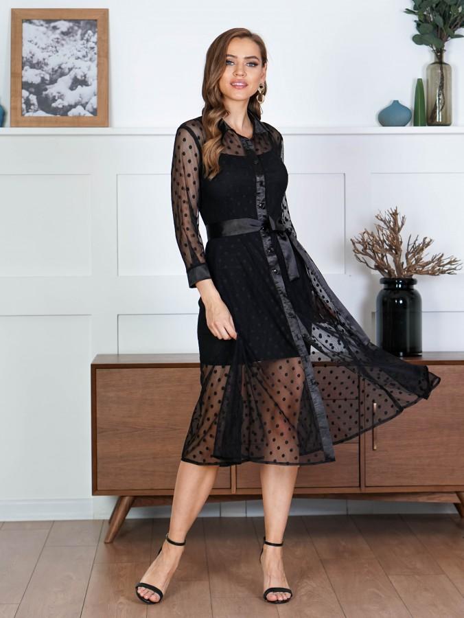 Платье Z354 цвет черный