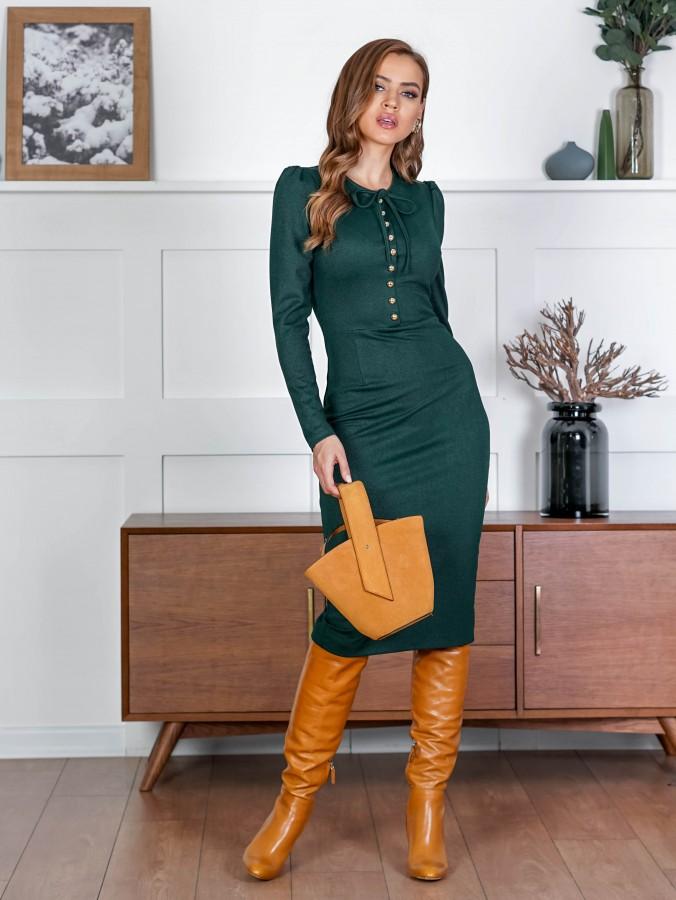 Платье Z340 цвет зеленый