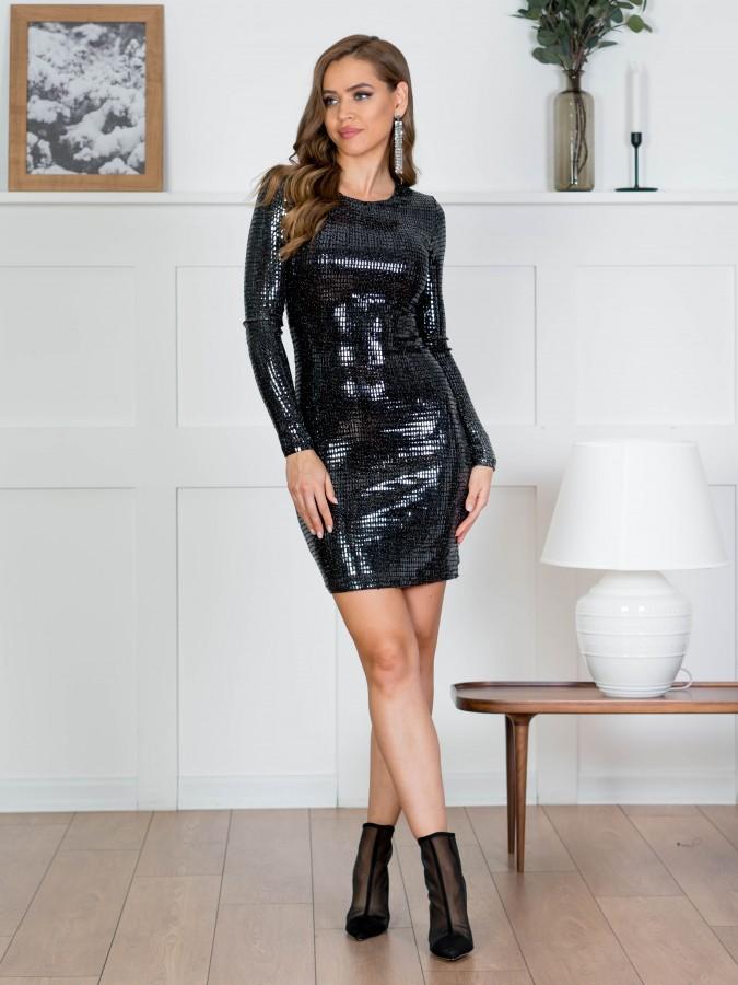 Платье Z356 цвет черный