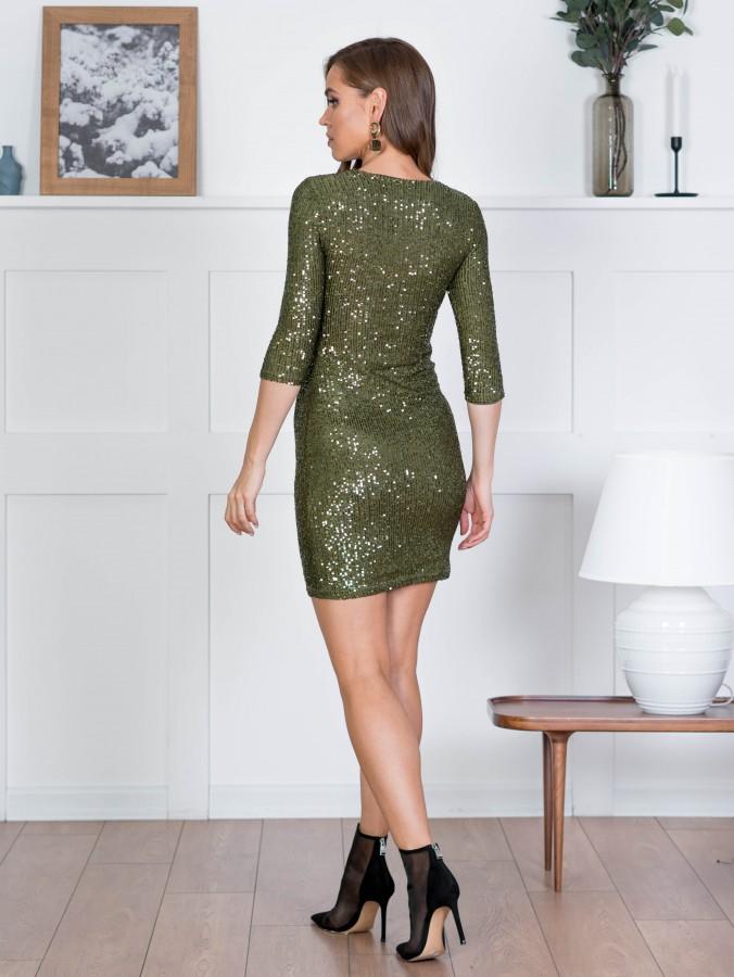 Платье Z356 цвет хаки