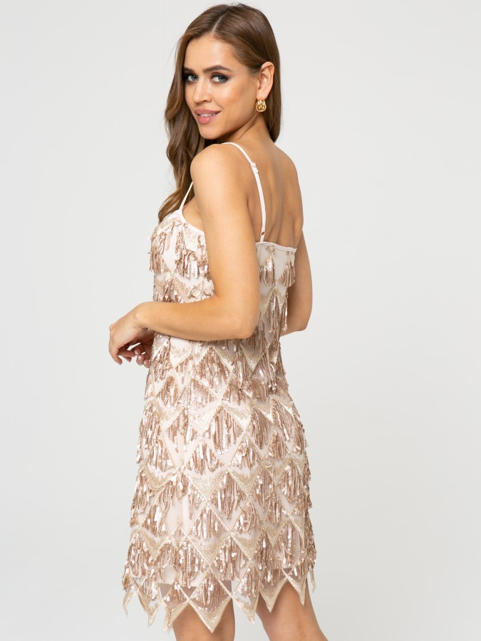 Платье Z357 цвет бежевый