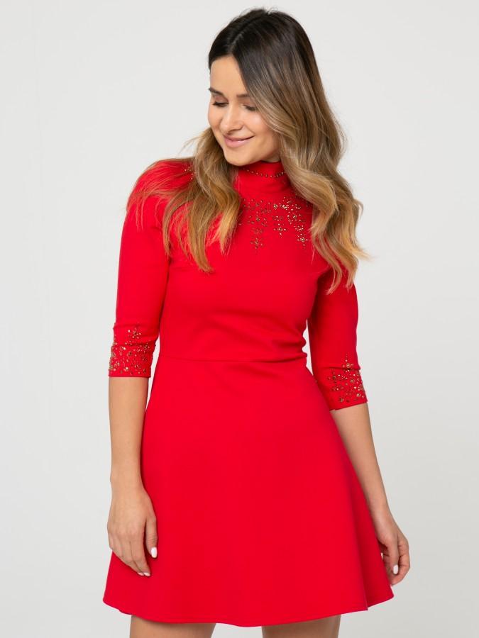 Платье Z345  цвет красный