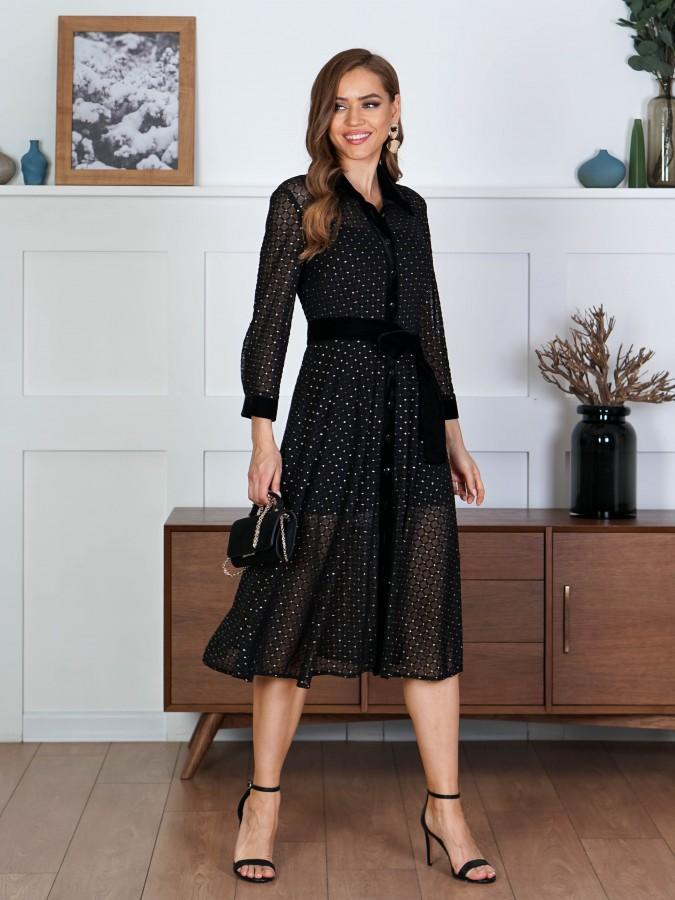 Платье Z354 цвет черно-золотой