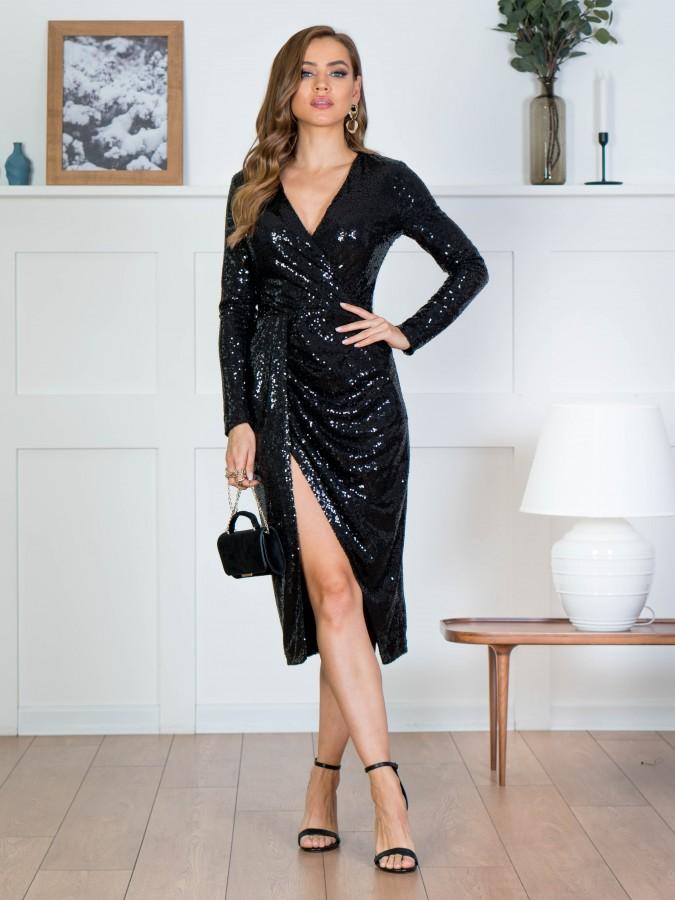 Платье Z358 цвет черный