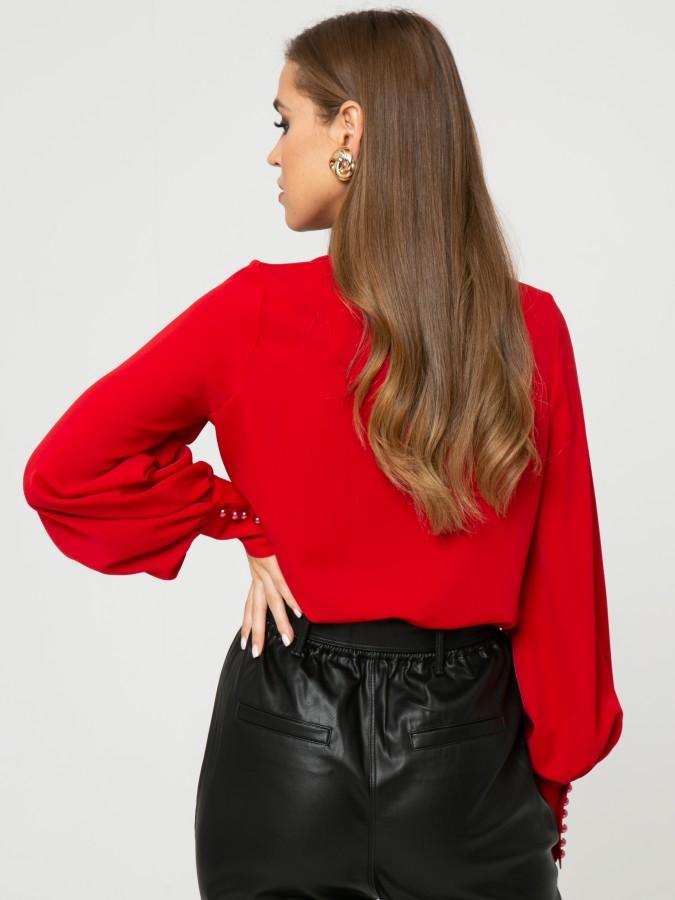 Блузка Z334 цвет красный