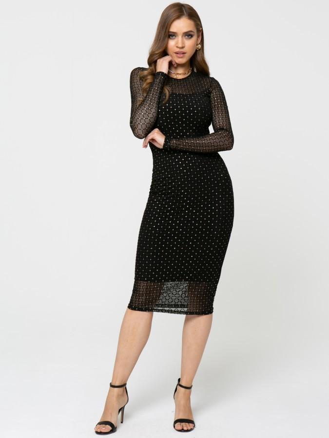 Платье Z360 цвет черно-золотой