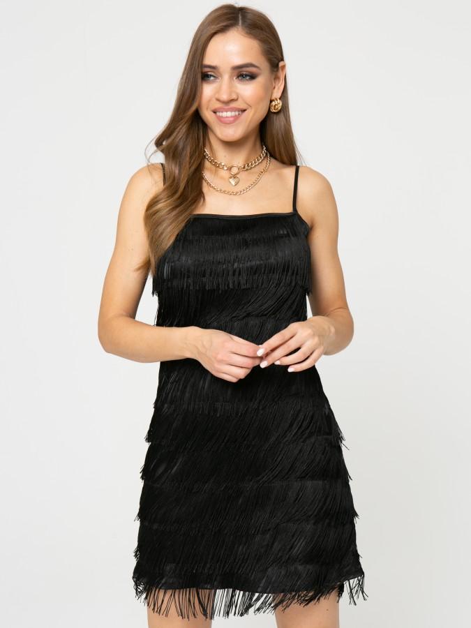 Платье Z357 цвет черный