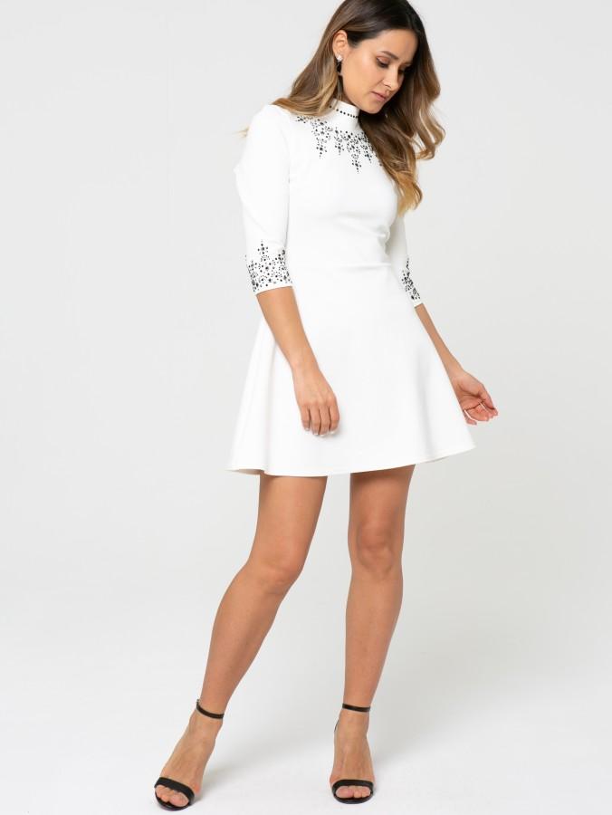 Платье Z345 цвет молочный