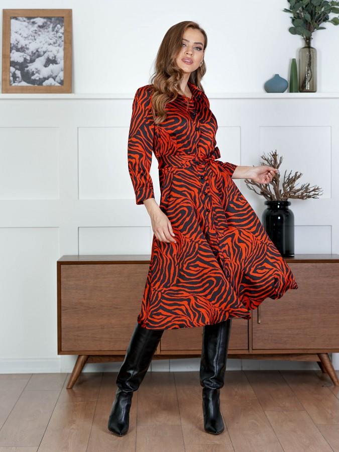 Платье Z342 цвет красный