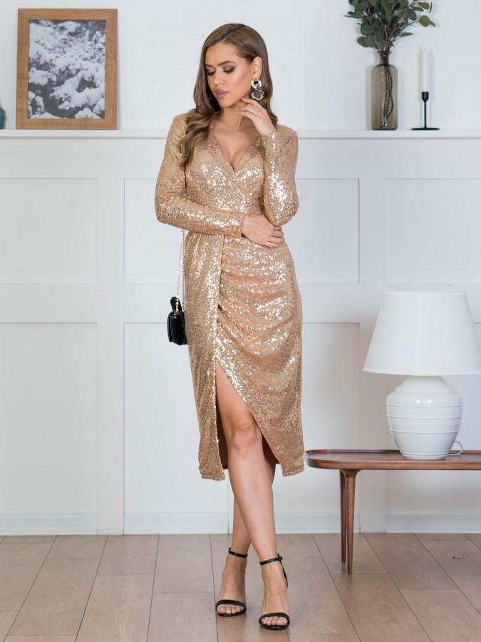 Платье Z358 цвет золотой