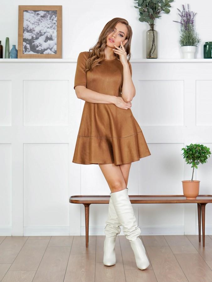 Платье Z339 цвет коричневый
