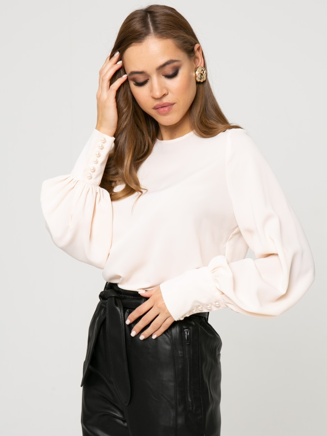 Блузка Z334 цвет бежевый