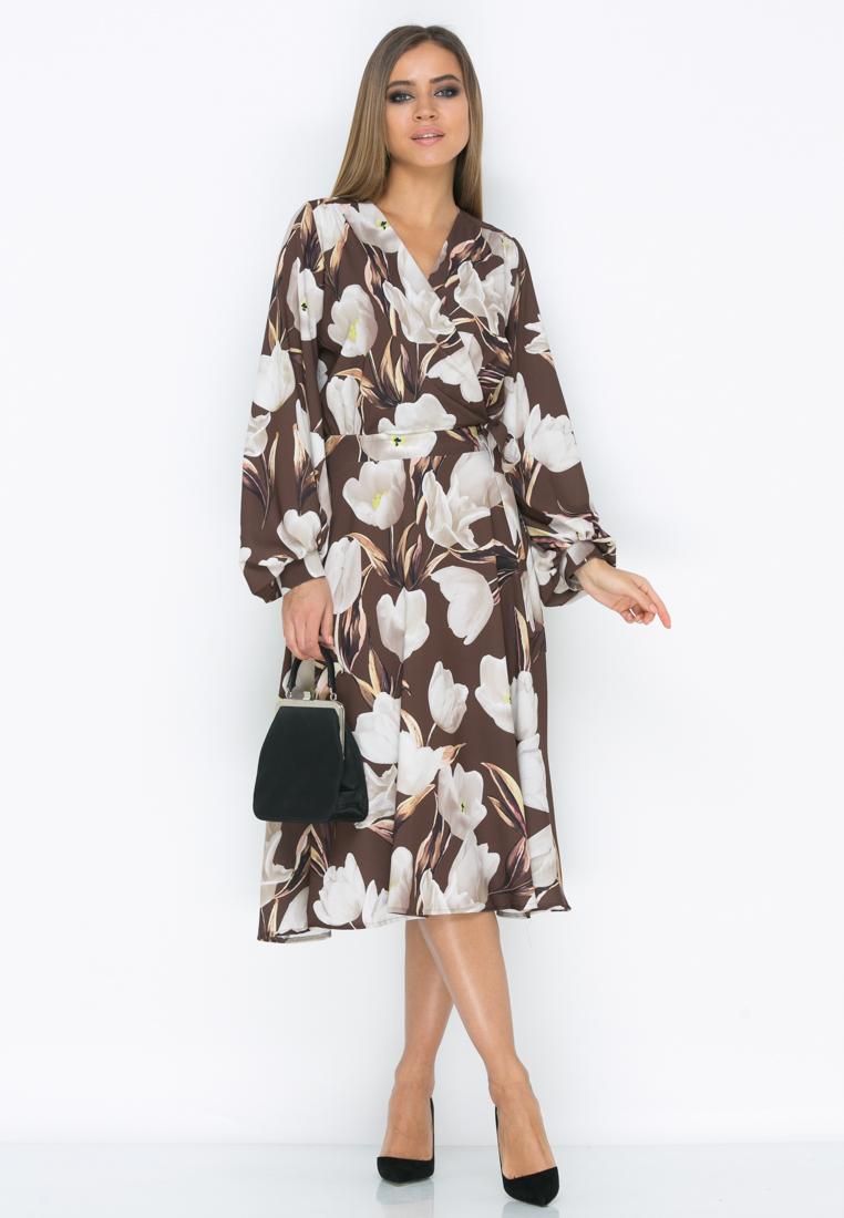 Платье Z195  цвет коричневый