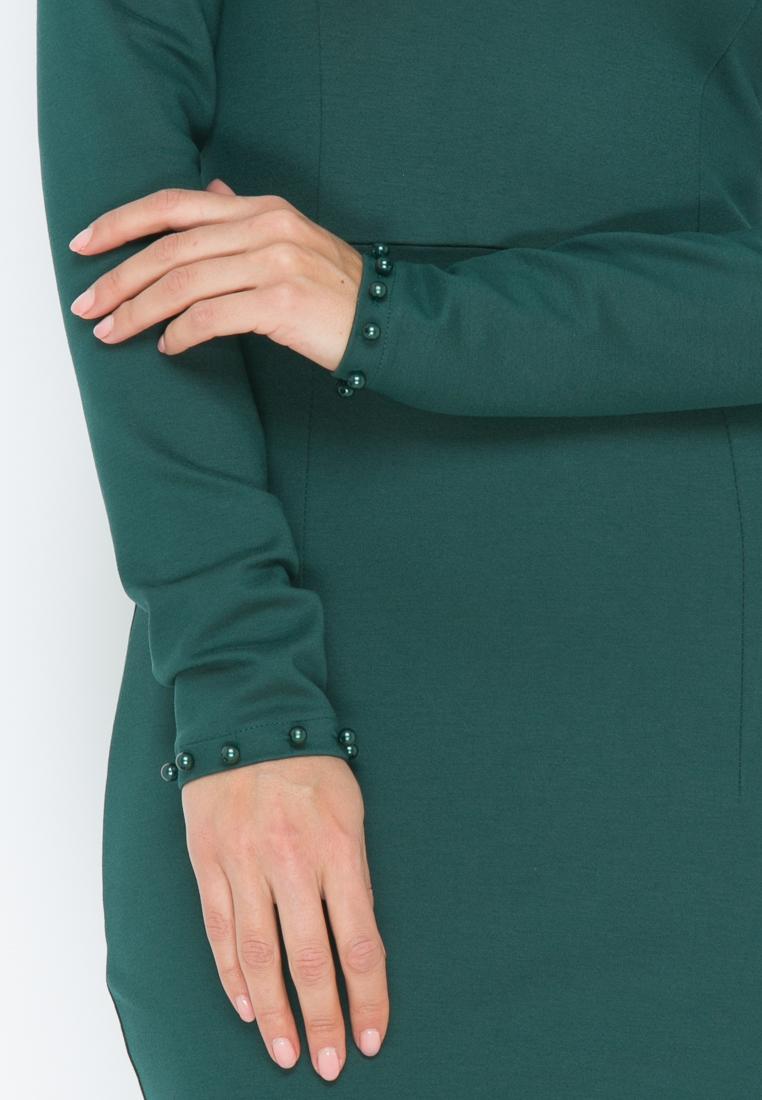 Платье Z189  цвет изумрудный