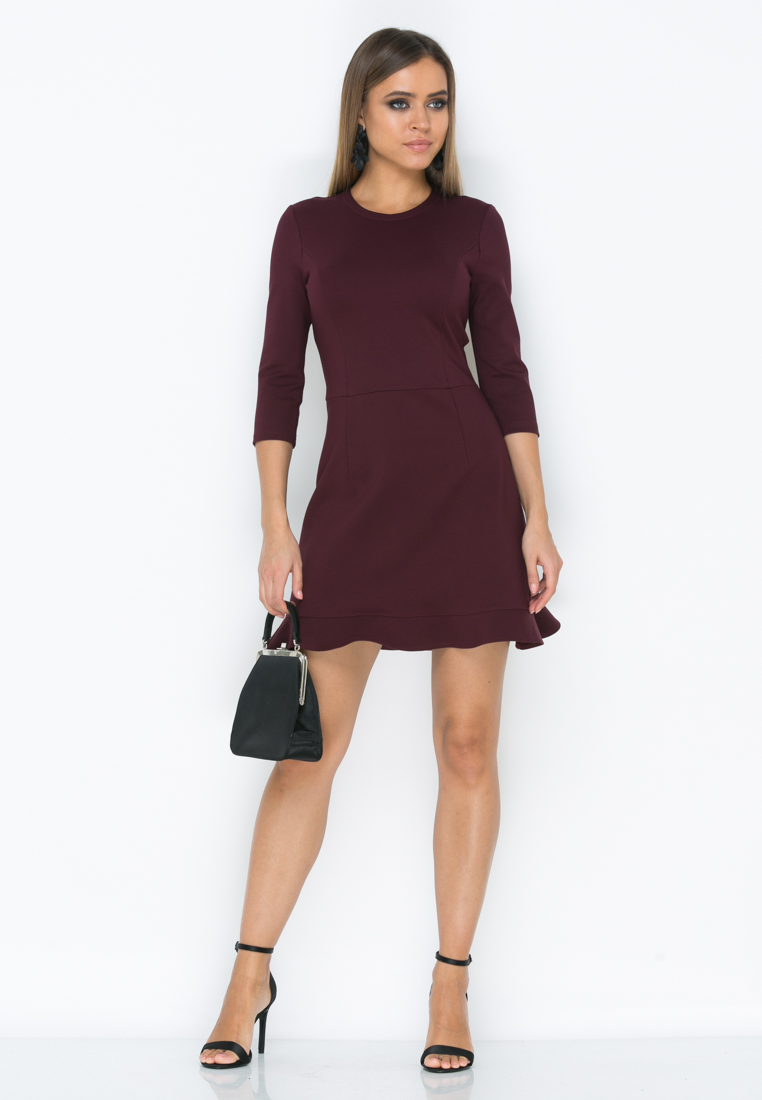 Платье Z190  цвет марсала