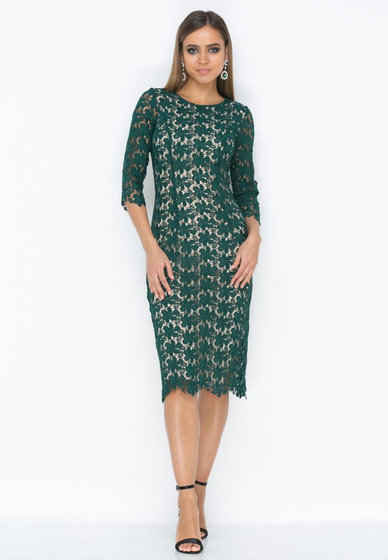 Платье Z191  цвет изумрудный