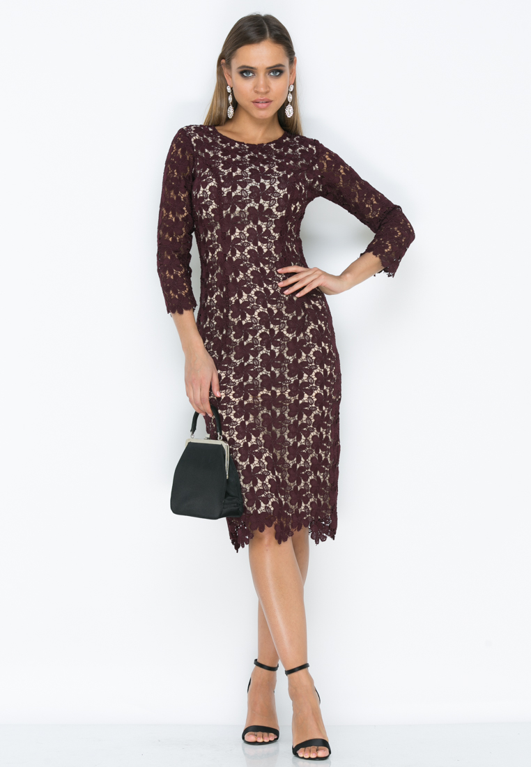 Платье Z191 цвет марсала