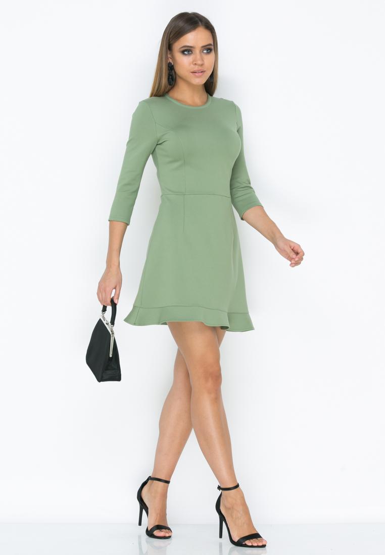 Платье Z190  цвет оливковый
