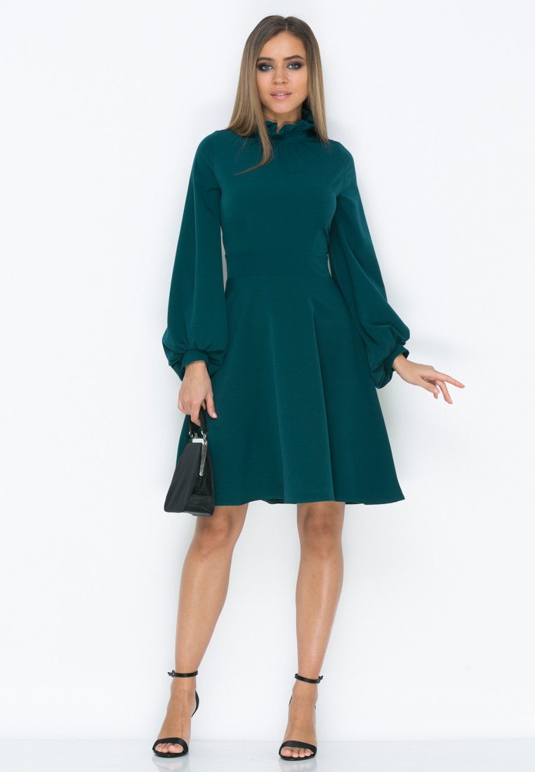 Платье Z192  цвет т.бирюза
